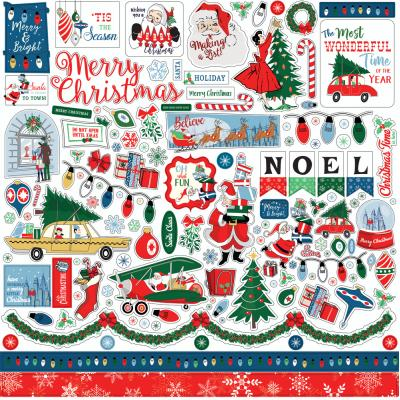 Carta Bella Merry Christmas Stickerbogen - Element Sticker